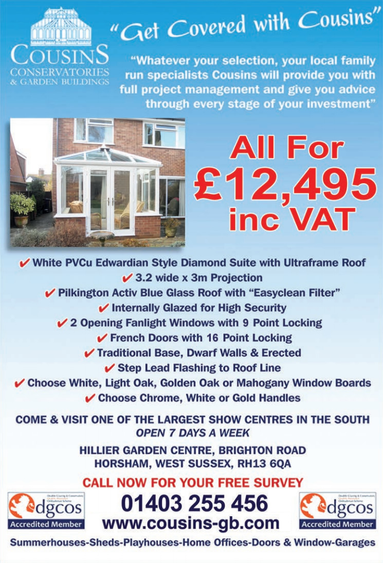 Cousins 12495 Conservatory Package Offer