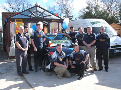Cousins Conservatories Car Giveaway with Horsham Rugby Club Players