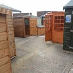 Cousins Conservatories & Garden Buildings Heavy Duty Sheds on Display