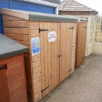 Cousins Conservatories & Garden Buildings Storage Sheds on Display