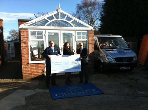 Handing Over the Cheque