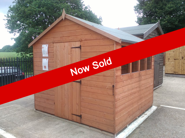 Super Apex 8x8 Ex-Display Shed - Sold