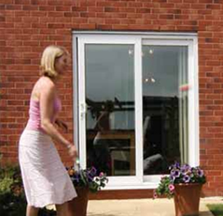 White PVCU Sliding Patio Doors