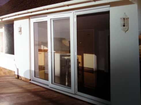 bi folding Doors with decking