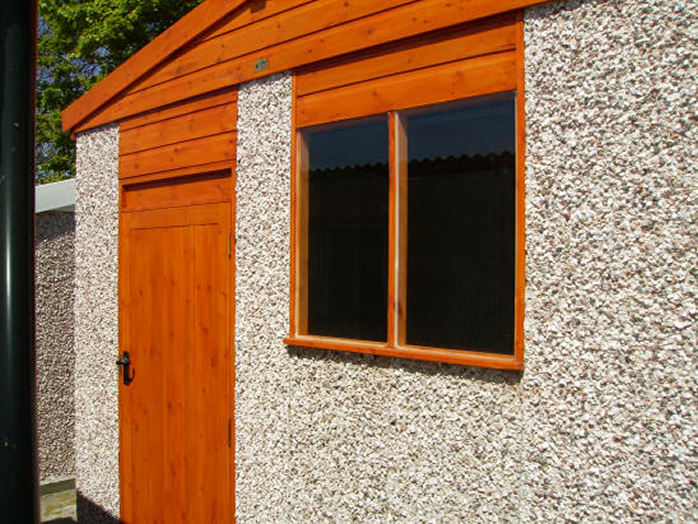 Apex Timber Extra high Shed with deluxe timber door