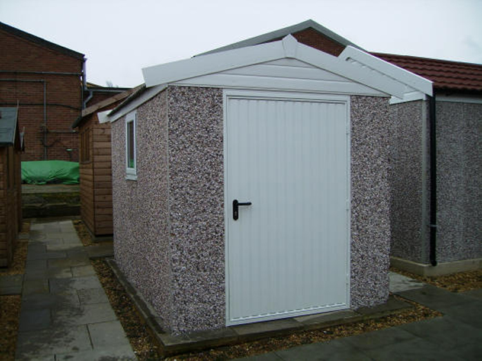 Shed Apex uPVC showing 3ft 6 Extra wide door