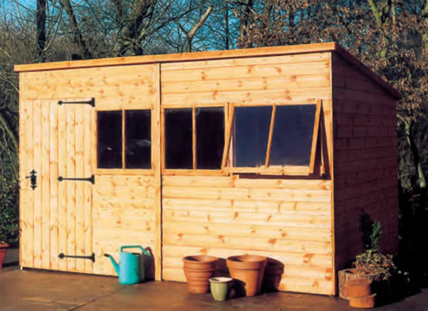 The Malvern Heavy Duty Pent Shed