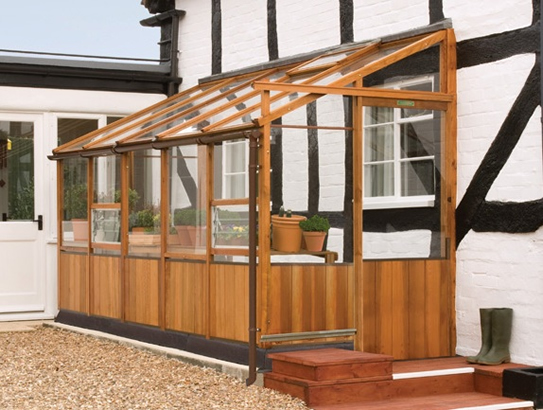 Traditional Cedar Lean To Greenhouse
