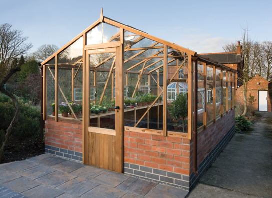 Traditional Dwarf Wall Greenhouse