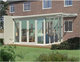 Veranda Glazed Extension with Full Glass to Ground