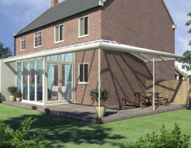 Veranda Lean To Glazed Extension with Wrap Around Veranda