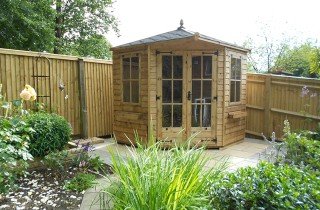 8x8 Regency Henley Summerhouse Installation with Georgian Windows