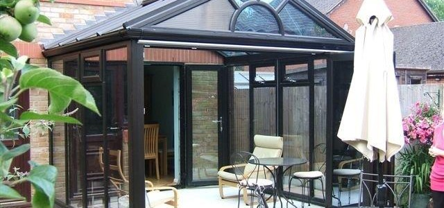 Gable Georgian Conservatory with Bi Folding Doors