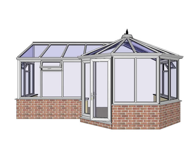 P Shaped Conservatory from the Front