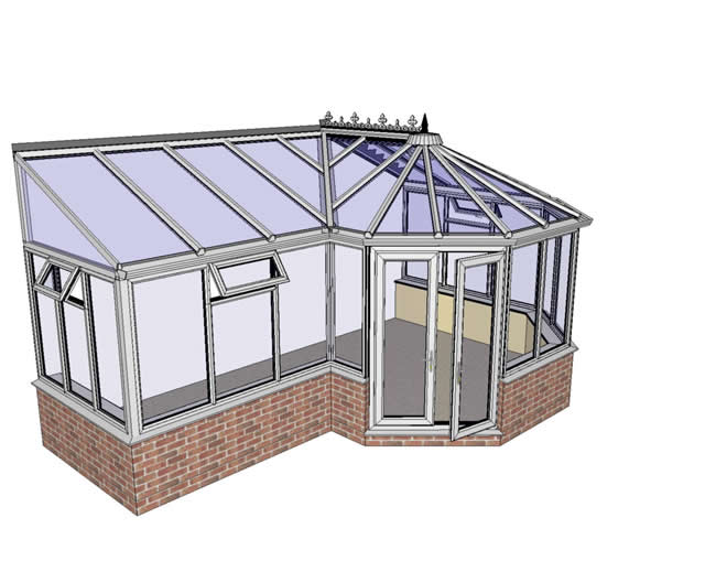 P Shaped Conservatory from the Right