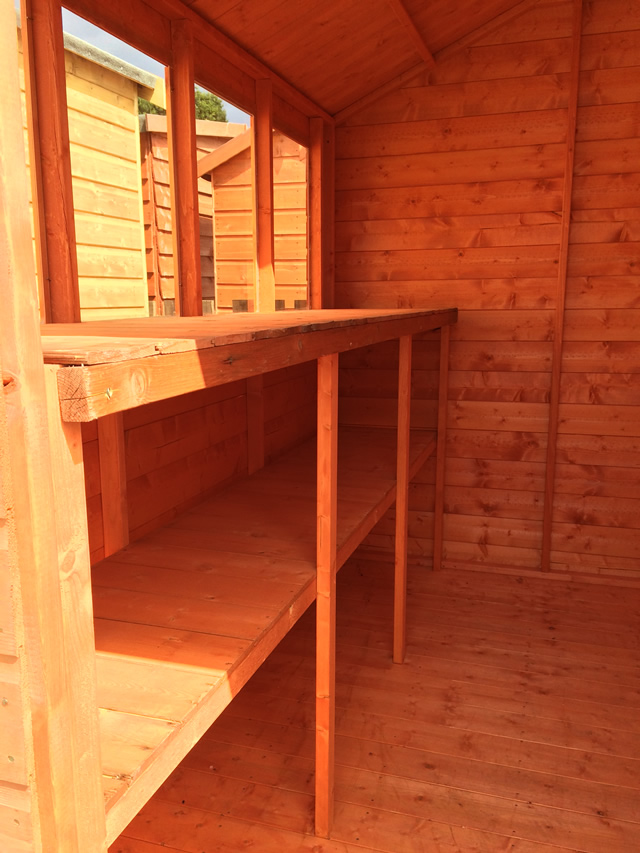 Shelving for the Cousins 8 x 6 Super Apex Shed