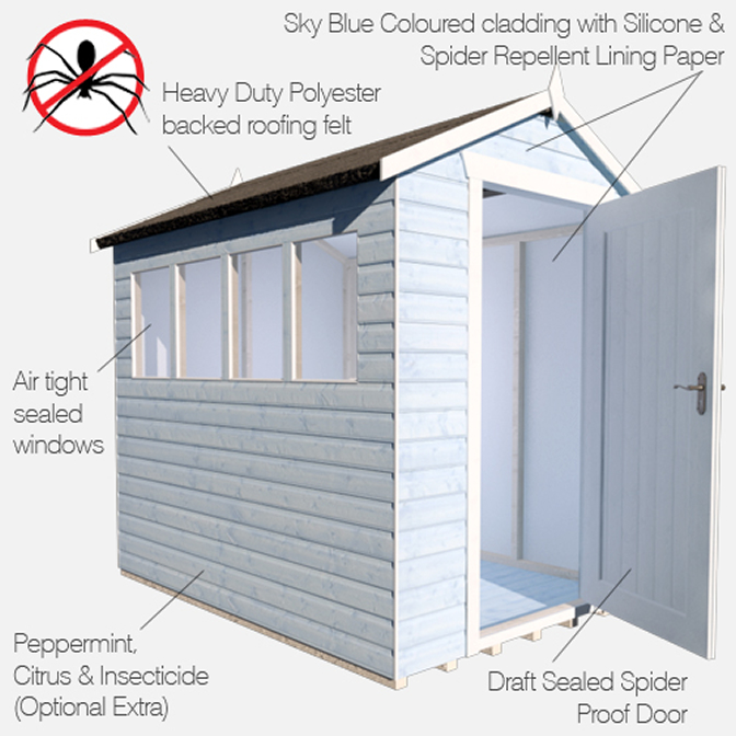 Technical Drawing Of Spider Proof Shed