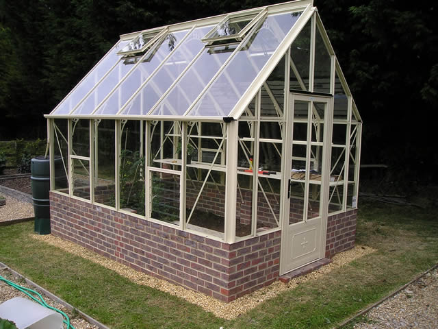 Robinsons Victorian Greenhouse Installation From Front Left