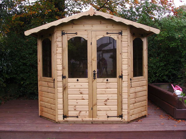 8x8 Regency Bowness Summerhouse Installation in Horsham