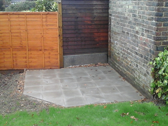 Shed Bases - Paving Slabs
