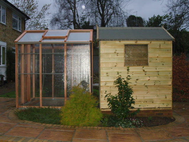 6X6 Shed and 6X6 Greenhouse Installation