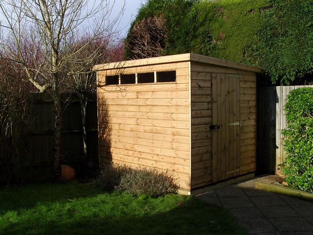 8x6 Security Pent Shed with Heavy Duty Floor and Roof