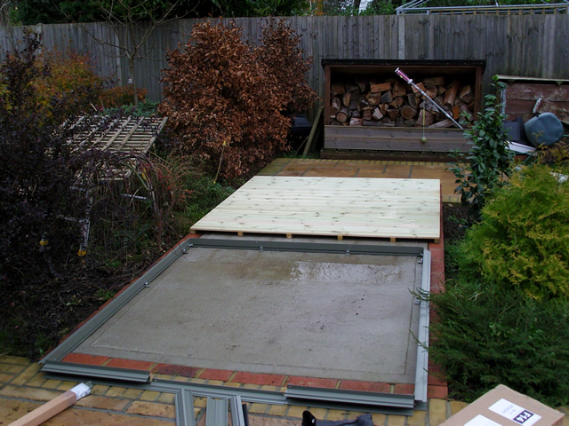 Concrete Bases for Shed and Greenhouse