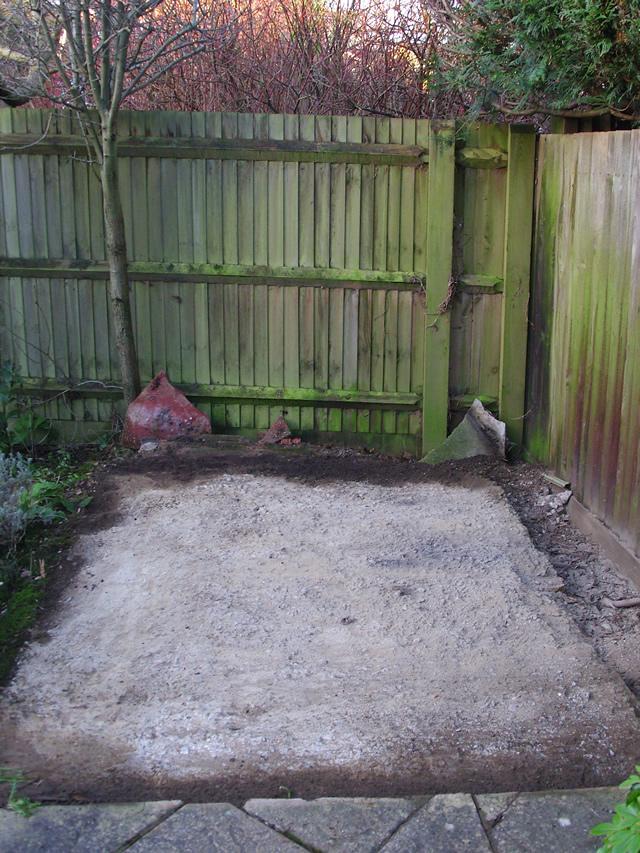 Old Concrete Base Ready to Take Wooden Frame