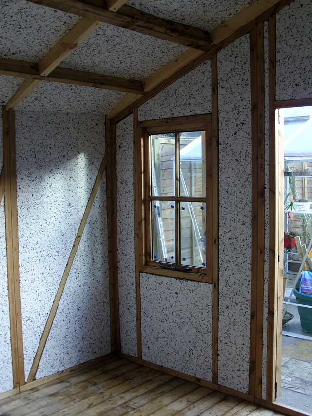 Insulation around front left window