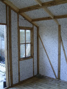 Insulation around front right window