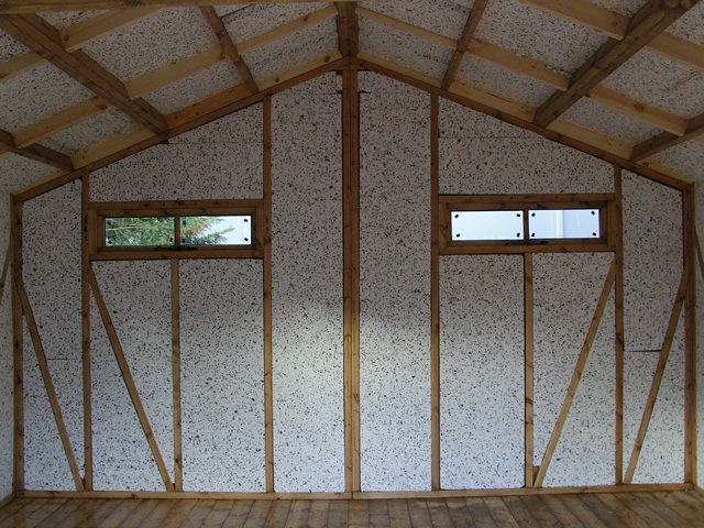 Insulation to rear of the building