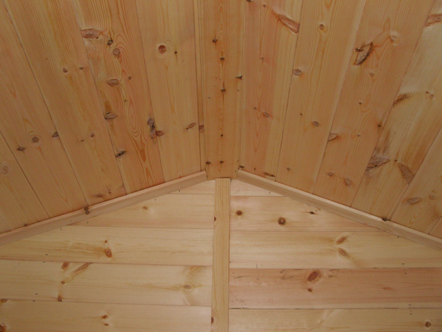 Lining of ceiling and rear wall