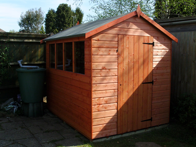 8 x 6 Super Apex Shed Installation