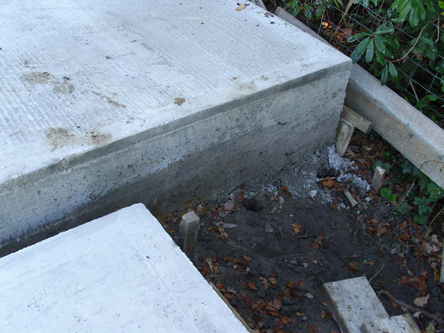 Deep Concrete Base for Pool House