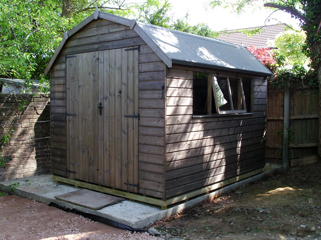 Cousins conservatories garden buildings 12 x 8 regency for Garden shed installation