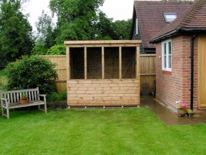 8x6 Shed Installation in Slinfold