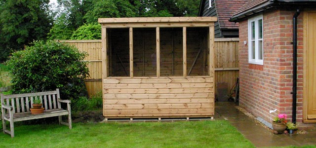 Cousins conservatories garden buildings potting shed for Garden shed installation