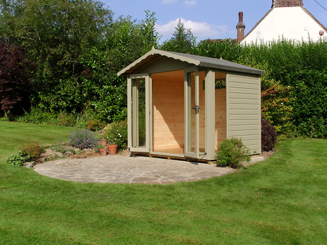 Helmsley Painted Summerhouse Installation