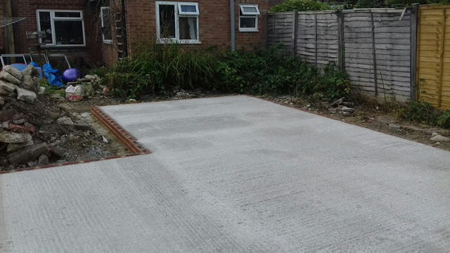 Re-enforced Concrete Base Installation