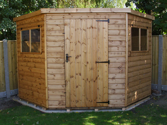 Completed 8x8 clayton corner shed