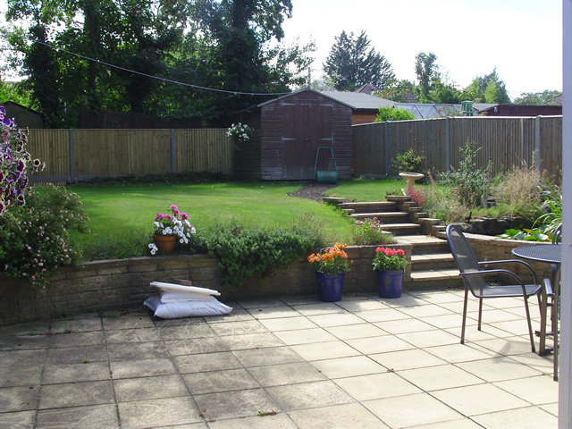 Customers garden in Hurstpierpoint