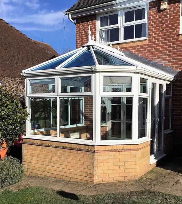 A Replacement Pilkington Activ Blue Glass Roof