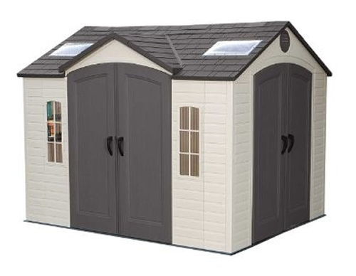 Lifetime 10ft x 8ft Dual Entrance Plastic Shed