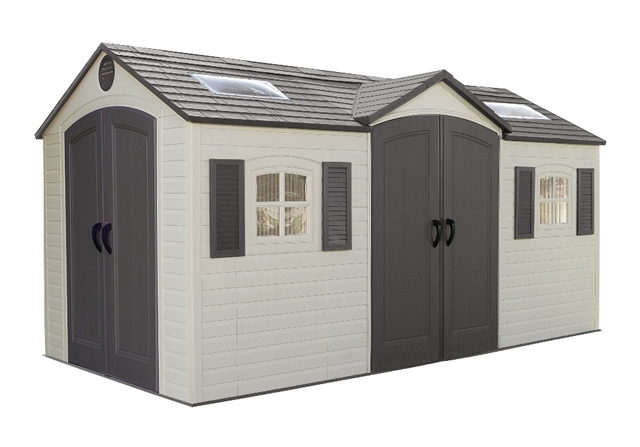 Lifetime 15ft x 8ft Dual Entrance Plastic Shed