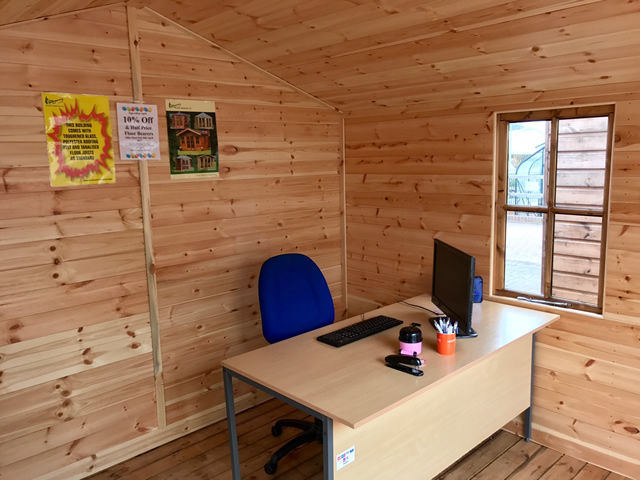 Internal Garden Office Desk View