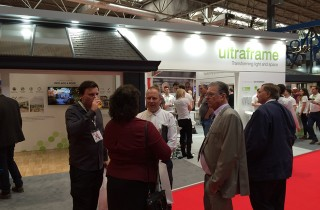 Jackie Gavin and Sean at the Ultraframe Stand