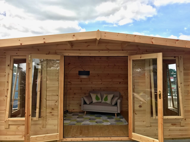 Woodlands Log Cabin On Display