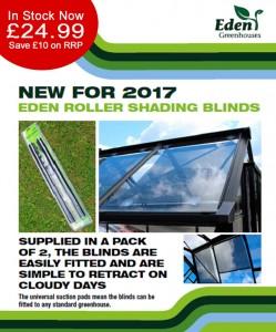 Eden Greenhouses Roller Blinds