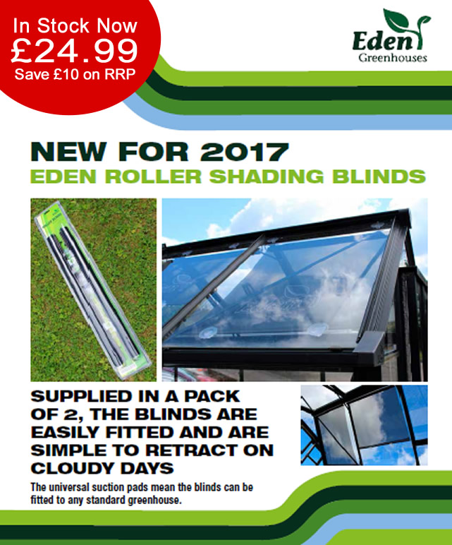 Eden Greenhouses Roller Blinds