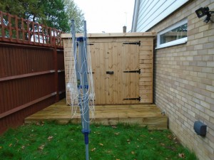 7x7 Security Pent Shed Installed in Horsham